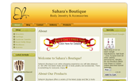 Sahara's Boutique - new wordpress conversion!